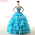Vivian's nupcial nueva película Deluxe adultos vestidos de novia de Cenicienta azul vestido de novia vestido de bola de Cenicienta vestido de novia
