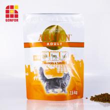 Saco de fecho com zíper para embalagem de comida de gato