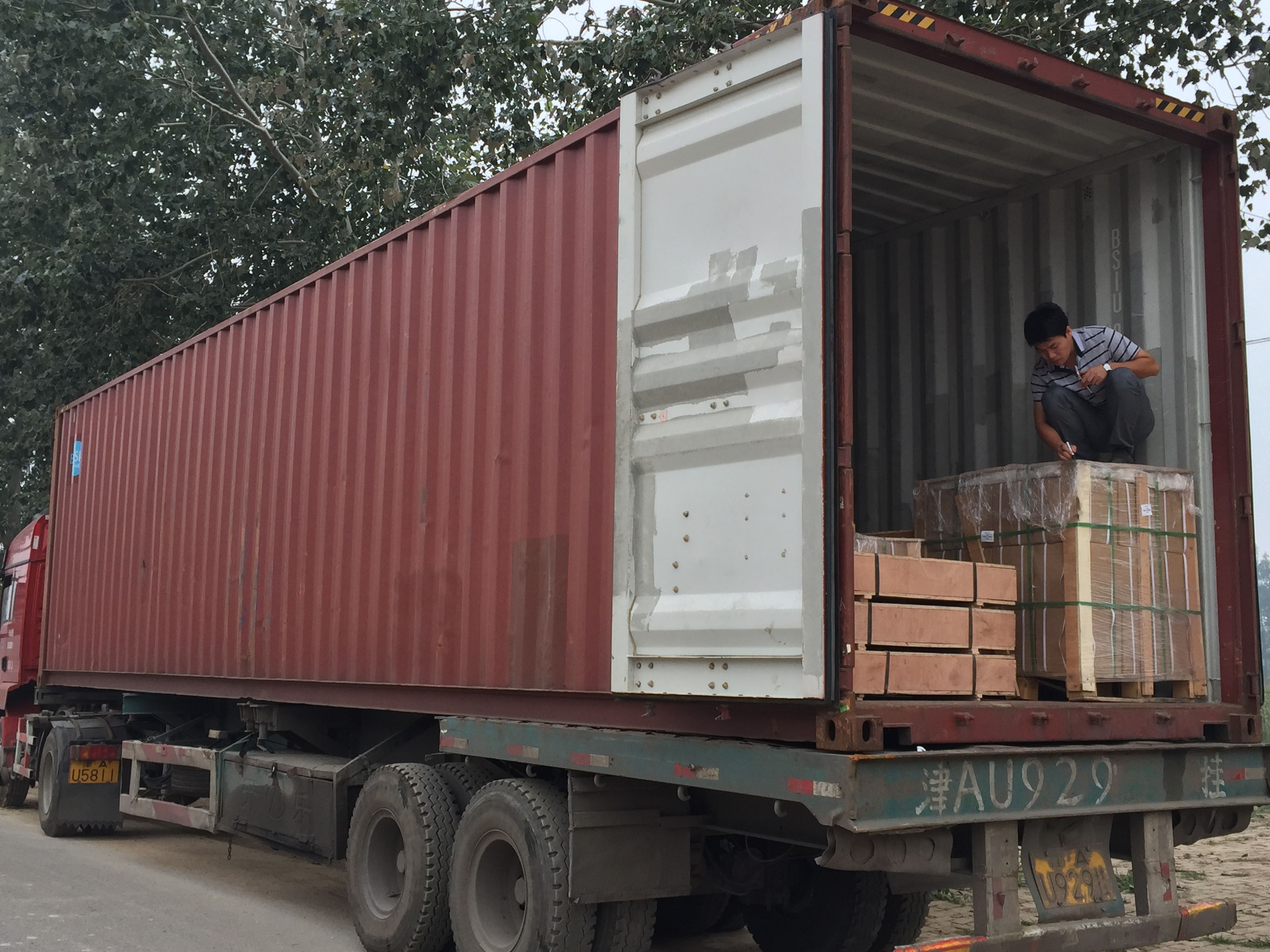 spare parts load container