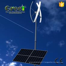 Système hybride domestique 5kW avec l'énergie éolienne et solaire