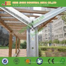Treillis en pente galvanisé en forme de Y en forme de treillis Vertical Rail Line Post