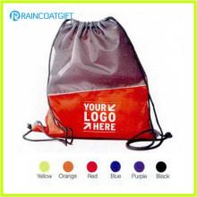 O logotipo personalizado impresso dá afastado o saco de cordão RGB-026