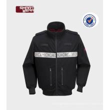 uniformes de bata de trabajo de lana polar de seguridad multi bolsillo con cinta reflectante