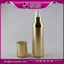 China manufactur cosmetic container , gold color plastic lotion bottle for serum