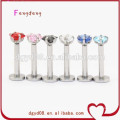 Stainless steel lip ring body jewelry