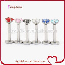 Joyas de cuerpo de anillo de labio de acero inoxidable