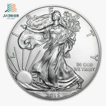 De Buena Calidad Personalice Moneda Conmemorativa o Souvenir de Metal 3D Silver Godness