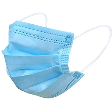 Máscara protectora médica cirúrgica não tecida de 3 dobras
