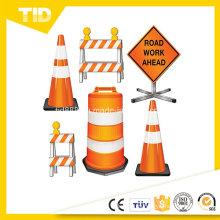 Barrera signo reflexivo pegatina para la seguridad del tráfico Workzone