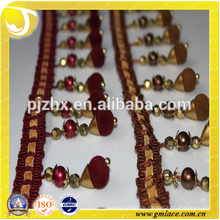 Polyester Perlen Fringe für Kleider und Hausdekoration