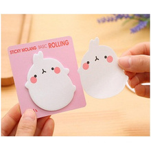 Cartoon Convenient Sticky Notes. Square Memo Pads with Strong Glue,