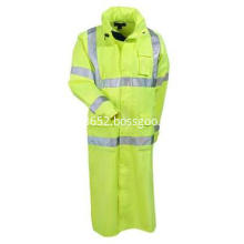 Men's Hi-Vis Lime Green Waterproof Work Coat