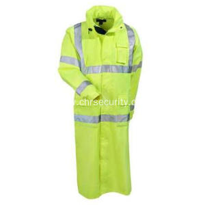 Men's Hi-Vis Lime Green Waterproof Work Coat