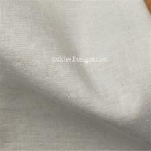 Tissu de vêtement teint par fil de spandex de coton de lin personnalisé