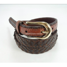 Skinny Leather Webbing Lady Belt