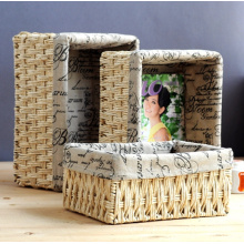 (BC-CB1006) High Quality Fashionable Handcraft Natural Cornhusk Basket