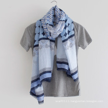 100% Cotton Printed Lady Fashion Scarf (YKY1146)