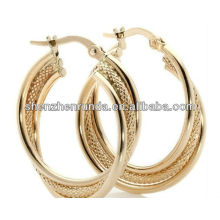Big Hoop Earrings 18K Gold Plated Fashion Jewellery For Women Brincos