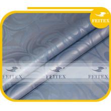 Tissu de vêtement africain damassé fait à la main FEITEX couleur gris polyester jacquard teint