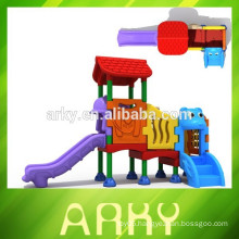2015 newly outside kids play house plastic slide park play structure for sale