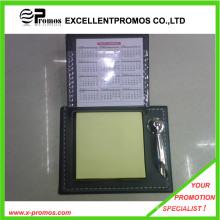 Promocional autoadhesivo almohadilla de notas con funda de cuero (EP-H9130)