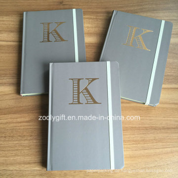 Anpassen Gold Stamping Logo A5 Hard Cover Notebooks