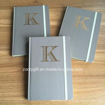 Personalizar el sellado de oro Logo A5 Hard Cover Cuadernos