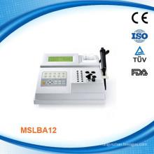 Semi-auto Analyseur de chimie portable MSLBA12W Analyseur de chimie du sang