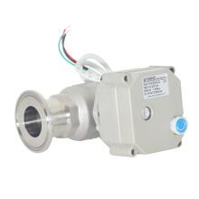 2 vías 1 pulgadas sanitarias eléctricas Tipo de instalación rápida Válvula de bola con operación manual