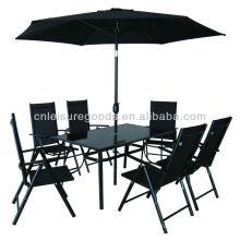 8er Set Sling Gartenmöbel mit 7 Positionen Stuhl