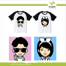 New Design Printed T Shirts Manufacturers China for Lady Fashion T Shirt (F108)