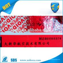 Selbstklebend sterben schneiden PVC bedruckbare Aufkleber Vinyl Sicherheit Garantie void Label