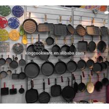 Sartén antiadherente de hierro fundido / sartén / utensilios de cocina con revestimiento pretestado