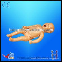 Maniquíes de RCP neonatales funcionales completos avanzados, muñecas médicas de entrenamiento para bebés