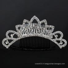 Sweet Kids Tiaras Crystal Rhinestone Crown Combs