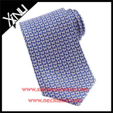 100% Handmade Silk Printed Necktie Horse Pattern