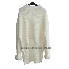 Chunky Pure Color Knit Sweater para senhoras