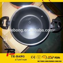 Cooking pot aluminum pot with glass lid