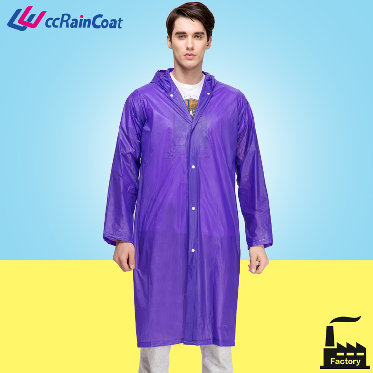 Heavy duty men wear rubber thick raincoat