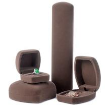 Custom logo luxury gift jewelry box velvet packaging box