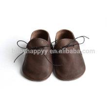 El verano de cuero unisex del bebé de Oxford del diseño de la nueva manera atan para arriba los zapatos