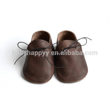 New fashion unisex design oxford leather baby summer lace up shoes