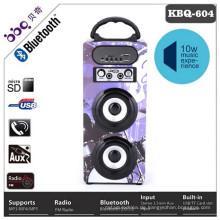 Aktiver FM Radio drahtloser hölzerner bluetooth Lautsprecher wasserdicht mit LED-Schirm