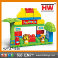 Animal plastic building bricks educational bricks