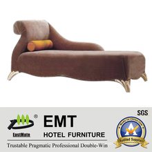 Latest Fabric Wooden Frame Chaise and Lounge (EMT-LC07)