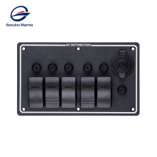 Boat Yacht Car RV Vertical and Horizontal Mounting Waterproof Marine Fuse Switch Panel