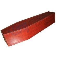 Caixão desmontado com papel de fibra de madeira