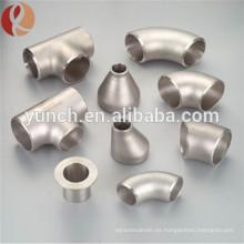 Codo de montaje de tubería de titanio químico 90 grados