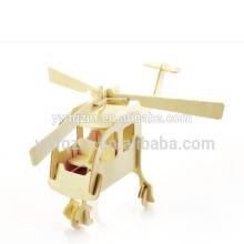 hölzernes Spielzeug des lustigen Puzzlespielflugzeugs 3d
