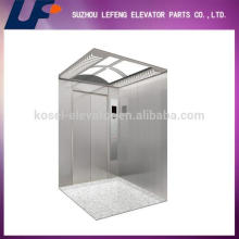 Полноценный пассажирский лифт из нержавеющей стали, отделка салона из нержавеющей стали